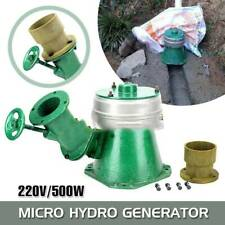 500W 220V Micro Hydro Water Turbine Electric Generator Hydroelectric Portable US