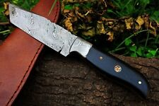 DKC-522 INTREPID Damascus Tanto Hunting Handmade Knife Fixed Blade 8.9 oz 9  Lon