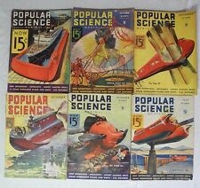 Antique Popular Science Monthly Magazine 1932-37 Lot of 6 Old Cigarette Ads