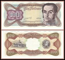 1990 Venezuela 100 Bolivares Choice Uncirculated CU Currency