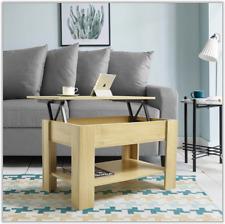 Modern Coffee Table Tea Living Room Home Furniture Oak Lift Up Wood Easy Storage