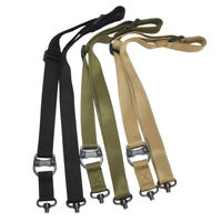 Tactical Quick Detach gun sling Double Point Rope Lanyard Safety Strap Hunting 4