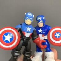 Playskool Heroes Marvel Super Squad Adventures Captain America w Racer Cycle