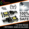 100% CANBUS ERROR FREE 14 SMD LED PURE CREE WHITE W5W T10 501 SIDE LIGHT BULBS