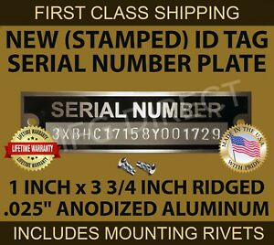 Stamped Vin DATA PLATE Serial Number Tag Ford Dodge Chevy Plymouth Others ID usa