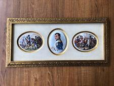 New Listing3 Vintage Limoges Napoleon Miniature Porcelain Plaques Framed
