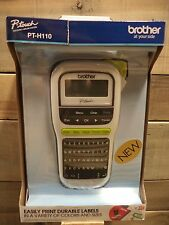 Brother PT-H110 Portable P-touch Labeler MAKER HANDHELD TZe tape Battery Operate