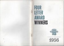 Ford Four Letter Award 1956 Winners 50 Page Brochure 56 News
