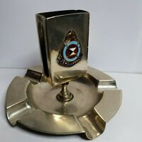 P&O peninsula orient RMS Cathay sunk 1942 Ashtray matchstick striker holder