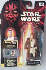 Action Figure Commtalk Chip Obi Wan Kenobi Episodio 1 Star Wars Hasbro 10Cm Card