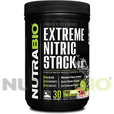 NutraBio Extreme Nitric Stack Kiwi Strawberry -500  GRAMS