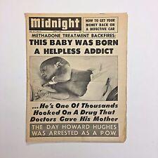 Midnight Magazine Tabloid Newspaper 1972 Methadone Howard Hughes POW Marijuana