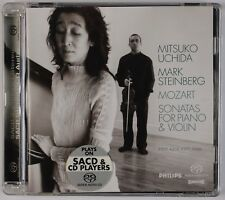 MOZART: Sonatas for Piano & Violin, Uchida, Steinber PHILIPS SACD NM