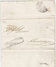 * 1849 ITALIAN STATES STAMPLESS LETTER CEFALU OVAL PMK- PARTLY PRINTED - ITALY