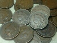 1907 Indian Head Cent half-roll - 25 coins, nice condition