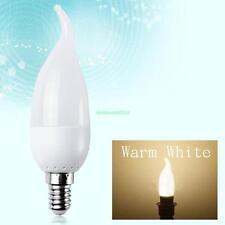 8X E14 LED Lights Edison Bulb Energysaving Candle Bright Lamp 3W Warm White 220V