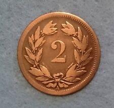 2 CENTIMES (Rappen) croix suisse 1850 Paris - A - TTB+