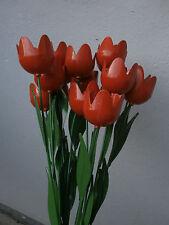 *** Fiori fiore TULIPANO in ferro smaltato 50 cm ARANCIONE iron  tulipan ***