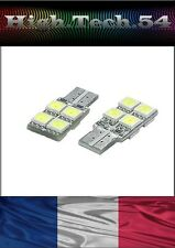 2 Ampoules 8 LED W5W T10 Habitacle Plafonnier Intérieur Lumière Blanche.