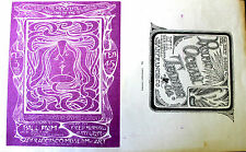 Digger Music & Light Show | SF Museum of Art | Orig. 1967 Handbill Art by Mouse