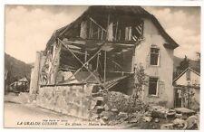 Carte postale ancienne Grande Guerre Alsace Maison Bombardée CPA