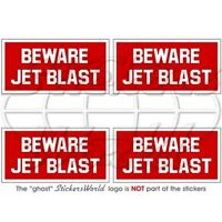 BEWARE JET BLAST Military Aircraft RAF USAF NATO 50mm Stickers Decals x4