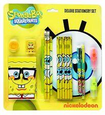Spongebob Squarepants Deluxe Stationery Set School Kit Pencil Case Notebook