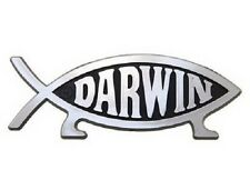 Darwin Evolution Fish Raised Chrome-Like Finish Car Emblem Evolved With Legs