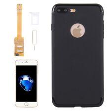 Kumishi para iPhone 7 Dual SIM Tarjeta Adaptador + Plus TPU caso cubierta trasera con Pin