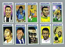 Pele la leyenda del fútbol Brasil 1970 Juego de Tarjetas