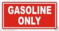 Gasoline Only Vinyl Decal | Sticker | Label Fuel Gas Door Label Weatherproof