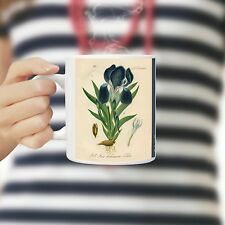 Purple Iris Coffee Mug, 11 Oz Ceramic Botanical Iris Mug, Unique Coffee Mugs