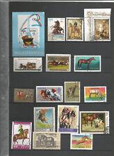 Pferde Pferdekutschen Reiter Briefmarken Stamps Timbre Sellos