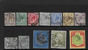 Malta 1914/21 set G/FU
