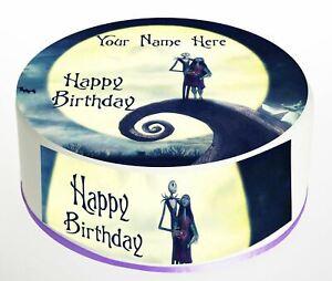 Cake Topper Birthday Jack Skellington personal Rice paper,Icing fondant Sheet837