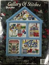 Gallery of Stitches Bucilla Counted Cross Stitch Hutch Kit Toy Shoppe Window New