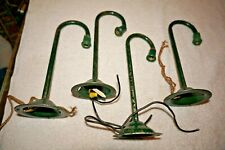 Standard GOOSENECK STREET LIGHT x4 NO SHADES All have SOCKETS GREEN Lamp Tinplte