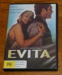 EVITA dvd REGION 4 madonna RARE OOP musical 1996 antonio banderas