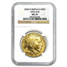 2008-W 1 oz Gold Buffalo MS-70 NGC - SKU #58861