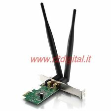 CARD NETWORK WIFI 300 Mbts 2.4 GHz WIRELESS PCI EXPRESS 2 ANTENNAS INNER