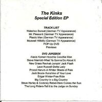 The Kinks  EP Sampler - Classic Pictures- ETV DVD