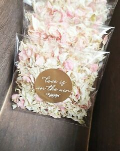 PREFILL Wedding Confetti Toss bag Natural Petal - with GOLD sticker