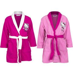 New Girl Bathrobe Hello Kitty Pink Rose Cuddly Soft 98 104 116 128 #141