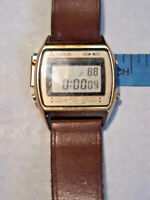 Vtg Lorus Goldtone Digital Alarm Chronograph Watch ~ TESTED ~ RARE ~ Ships FREE