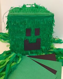 Green Block Pinata, Customize Your Own!