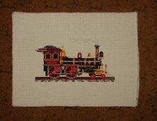 Train Engine, Completed Handmade Cross Stitch, Unframed, Railroad