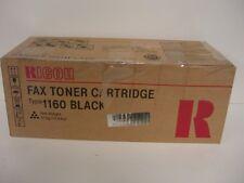 RICOH H192-01,  Fax Toner Cartridge,  Type 1160,  Black,