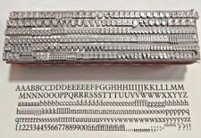 12 point PLANTIN Roman 3A Letterpress Metal Printing Type