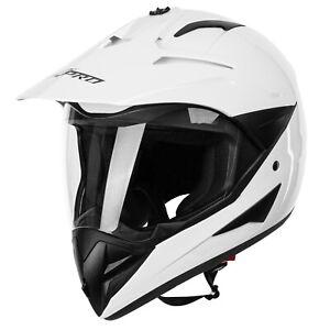 Cross Off Road Helmet Motorcycle Anti Fog ATV Motorbike Visor White