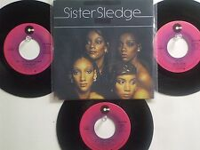 LOT OF 4 ' SISTER SLEDGE ' HIT 45's+1P(Copy)[We Are Family]    THE 70's&80's!
